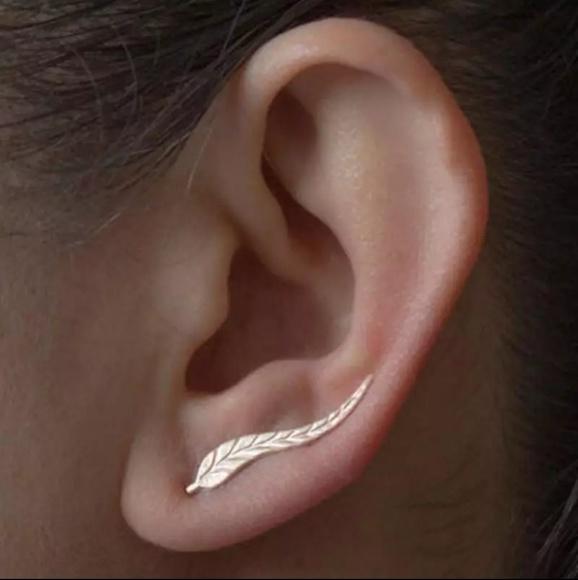Jewelry - Goddess Gold Leaf Crawler Earrings